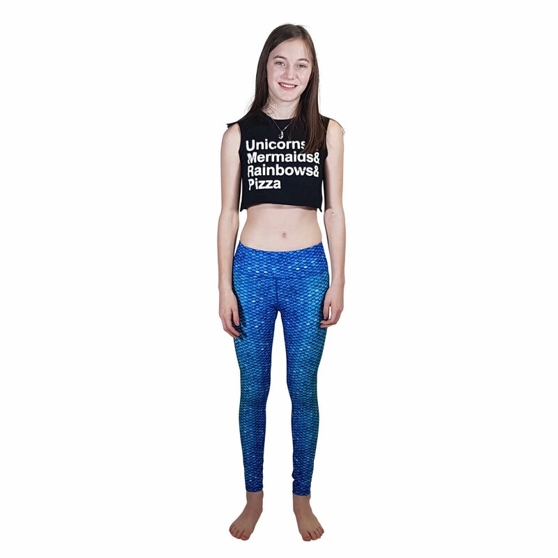 Meerjungfrau Leggings Blue Lagoon